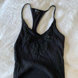 Artizia Babaton Black Lace Tank Top